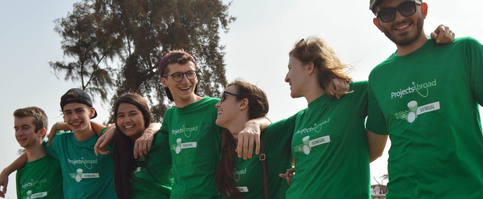 High school students makes use of their volunteer discount on a project in Senegal
